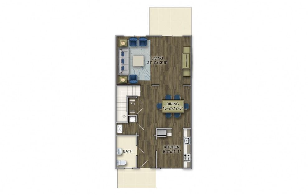 T-3 3 Bed 2.5 Bath Floorplan